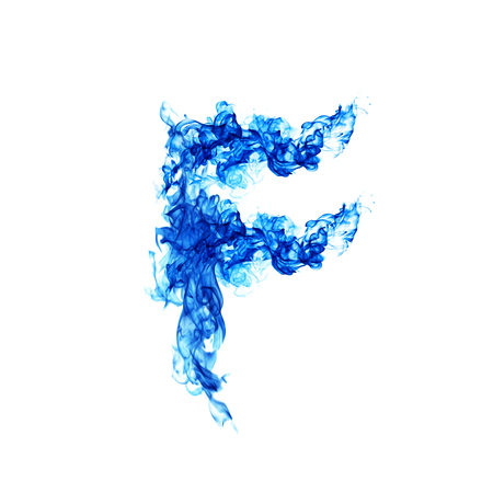 Blue Fire letter F.