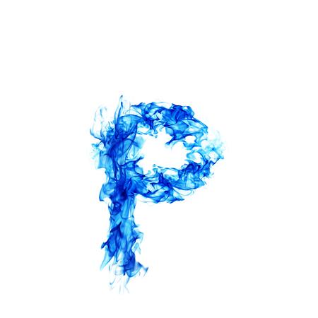 blue fire: Blue Fire letter P.