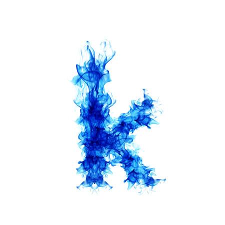flame letters: Blue Fire letter K.