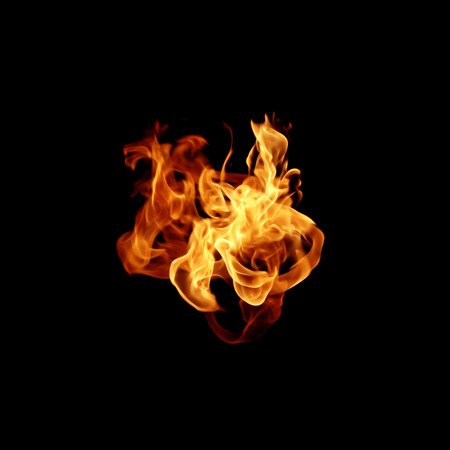 scorching: Hot fires flame in motion Stock Photo