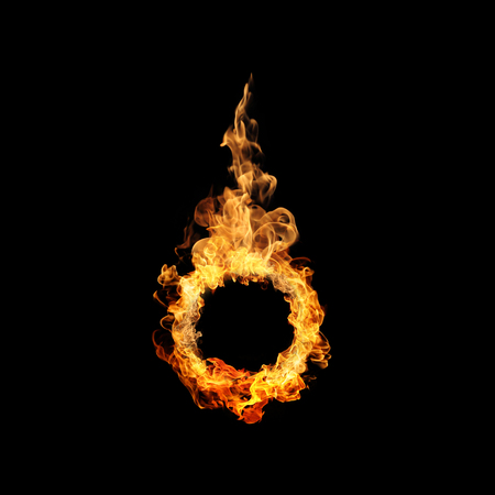 inferno: Ring of fire in black background