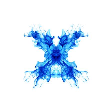 blue fire: Blue Fire letter X.