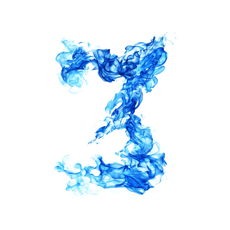 numero: Fire blue number 3