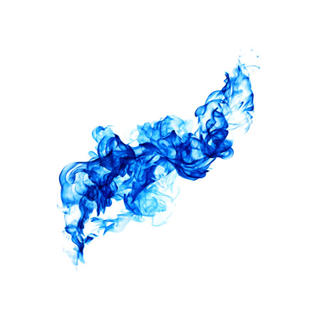 blue flames: blue flames isolated on white background.