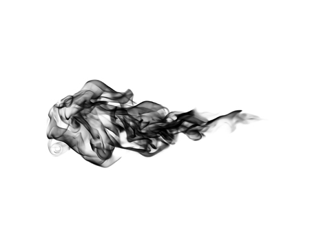 emit: white smoke cloud background on black Stock Photo