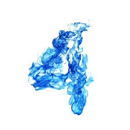 Feu bleu Numéro 4 Banque d'images - 52995409