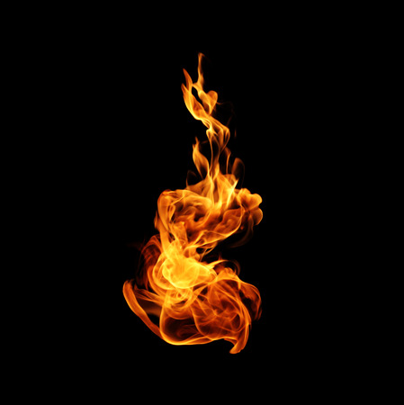 broil: Fire flames Stock Photo