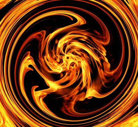 fervent: Fire Spin Stock Photo