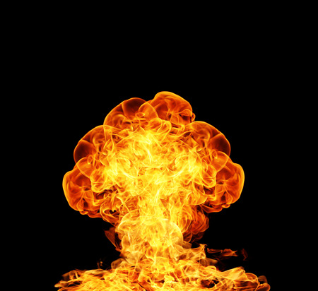 nuclear: Nuclear explosion Stock Photo