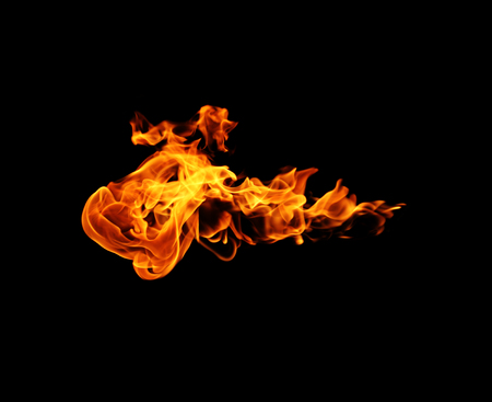 engulfed: Fire flames Stock Photo