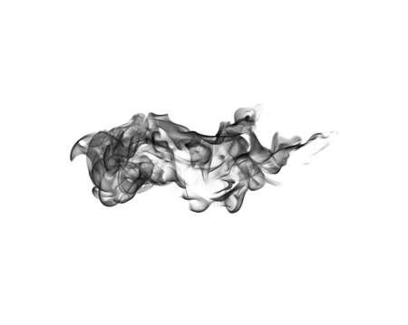 black smoke: Black smoke on a white background
