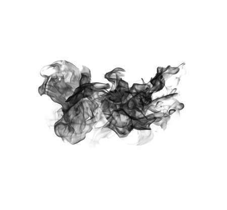 black smoke: Black smoke on a white background