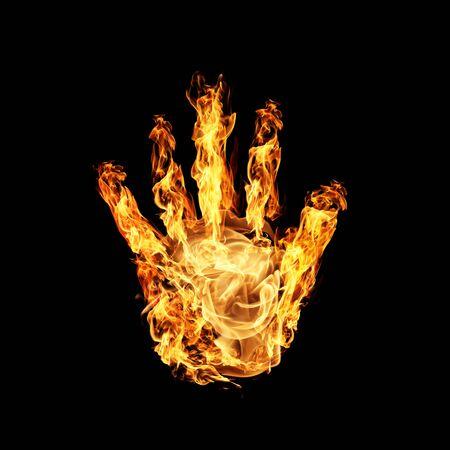 biometrics: Burning hand Stock Photo