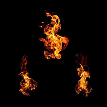 engulfed: Fire flames collection.