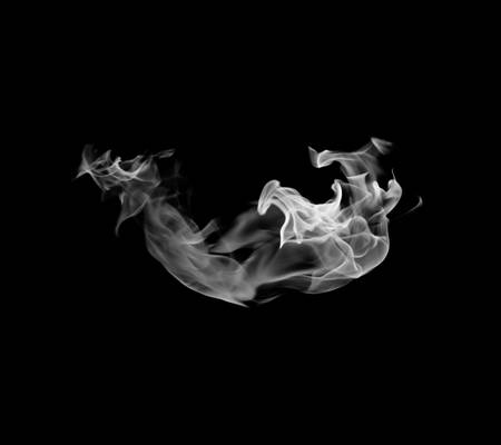 white smoke: Movement of white smoke. Stock Photo