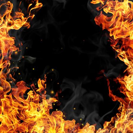 Płomienie pożaru
