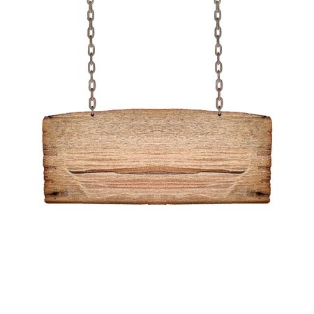 Rendre d'un signe de bois, isolé sur blanc Banque d'images - 52996917