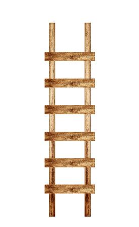 Alte Holzleiter gegen die Wand