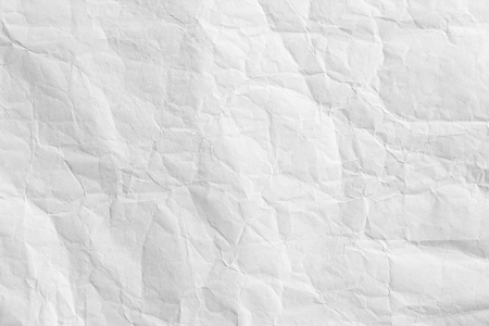 crumpled paper: White creased paper background texture Stock Photo