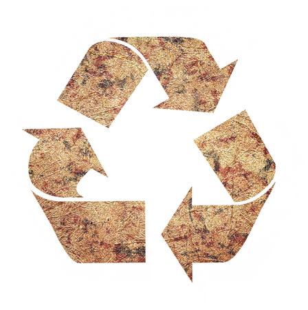 recycle logo: Recycle Logo From Recycle Paper with Clipping Path