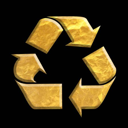 environmental awareness: gold Recycle