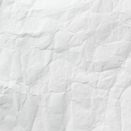 wrinkled: White wrinkled paper background texture Stock Photo