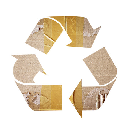 recycle paper: Recycle From Recycle Paper with Clipping Path Stock Photo