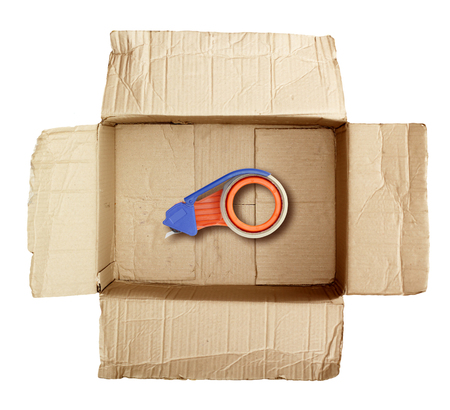 mailed: Cardboard boxes stick dispenser for adhesive tape