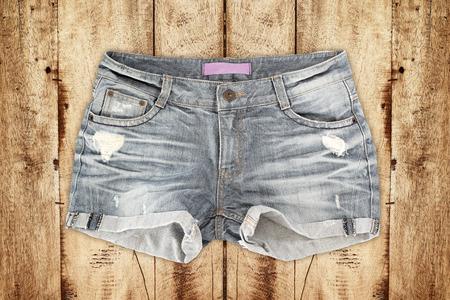 jeanswear: jean shorts Stock Photo