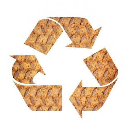 scrap metal: Metal recycle sign