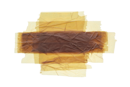 tear duct: Adhesive tape on a white background.
