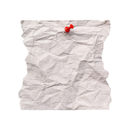 paper pin: Note Paper with pin on white background
