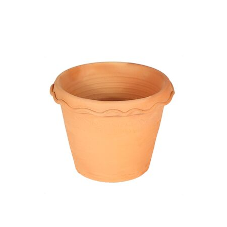 planters: ceramic pot on white background Stock Photo