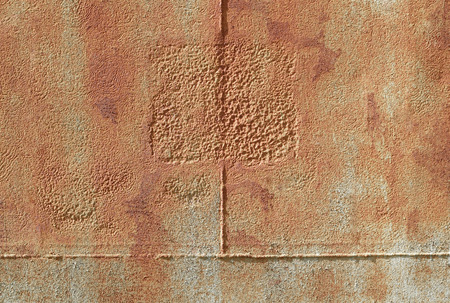 rust covered: Old metal cover Stock Photo