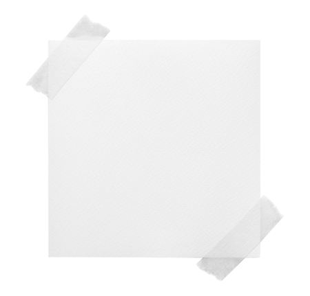various vintage note papers on white background. Stock Photo