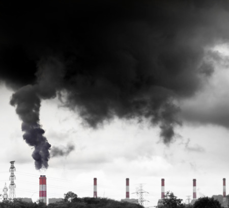 hohe Umweltverschmutzung durch Kohlekraftwerk