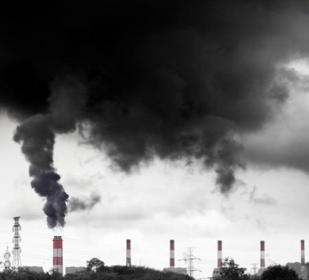 wysokiego zanieczyszczenia z elektrowni węglowej
