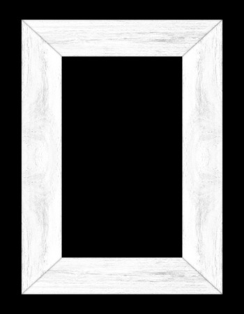 wood frame white on a black background.