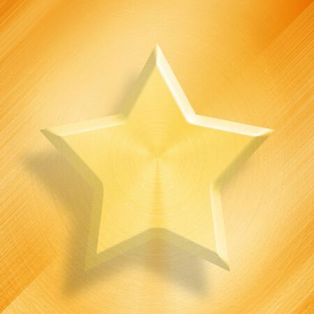 Gold star on gold background.