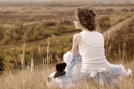 verdrietig meisje: Het droevige meisje bij breuk