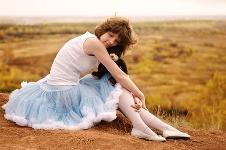 breakage: La muchacha triste en la rotura Foto de archivo