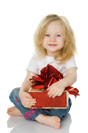 solated: The girl with a gift. solated on the white