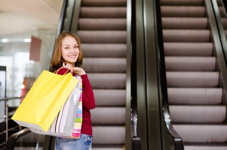 commercial activity: Young woman shopping