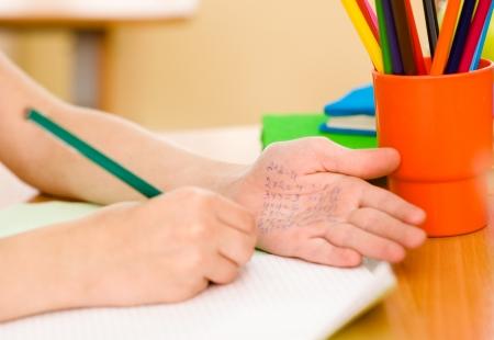 Write off exam in school photo
