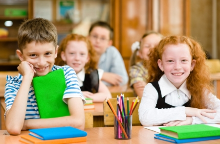 Portrait of happy school children Stock Photo - 22418859