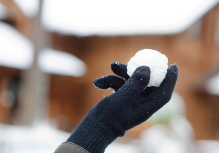 palle di neve: Palla di neve in palmo
