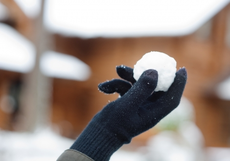 snowball: Snowball in palm Stock Photo