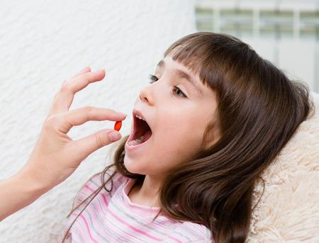 어린이 수신 알약 - 근접 촬영
