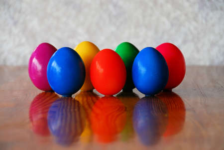 7 eggs on table