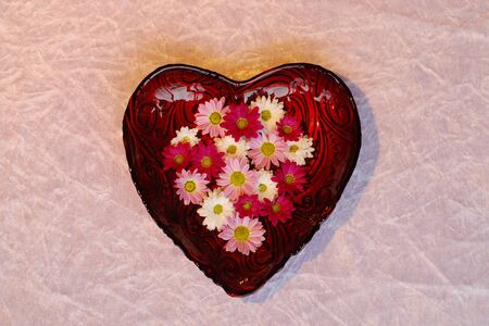 Heart bowl with flowers